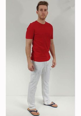 Pantalon lin private member 76141 blanc