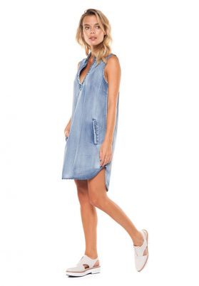 robe tunique denim robe vacance Dex 1122281