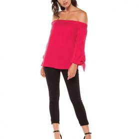 Blouse Fushia Black Tape 1123014T