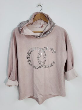 chandail Sweater chanel Karma 4670 rose