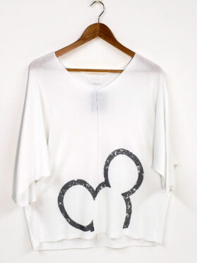 Top Mickey Karma made in Italy 1077 blanc